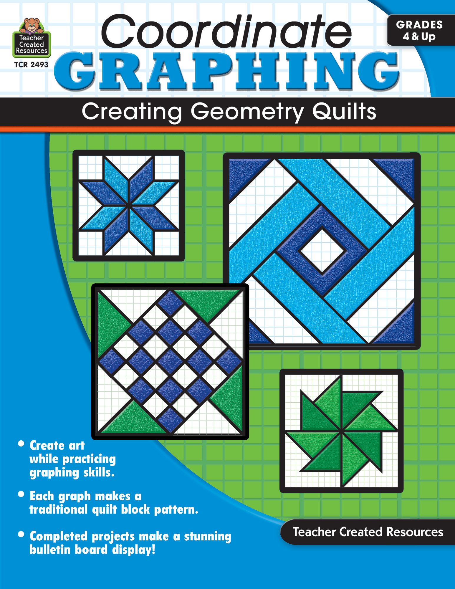 Coordinate Graphing: Creating Geometry Quilts (Gr. 4 & Up)
