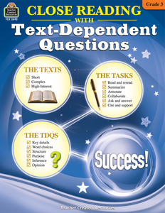 Close Reading with Text-Dependent Questions (Gr. 3)