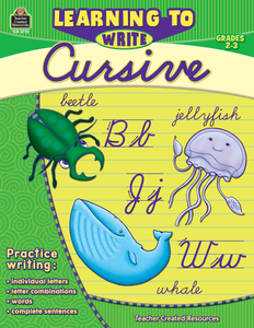 Learning to Write Cursive