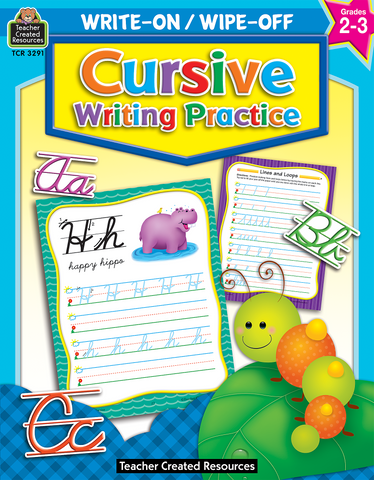 Write-On/Wipe-Off: Cursive Writing Practice
