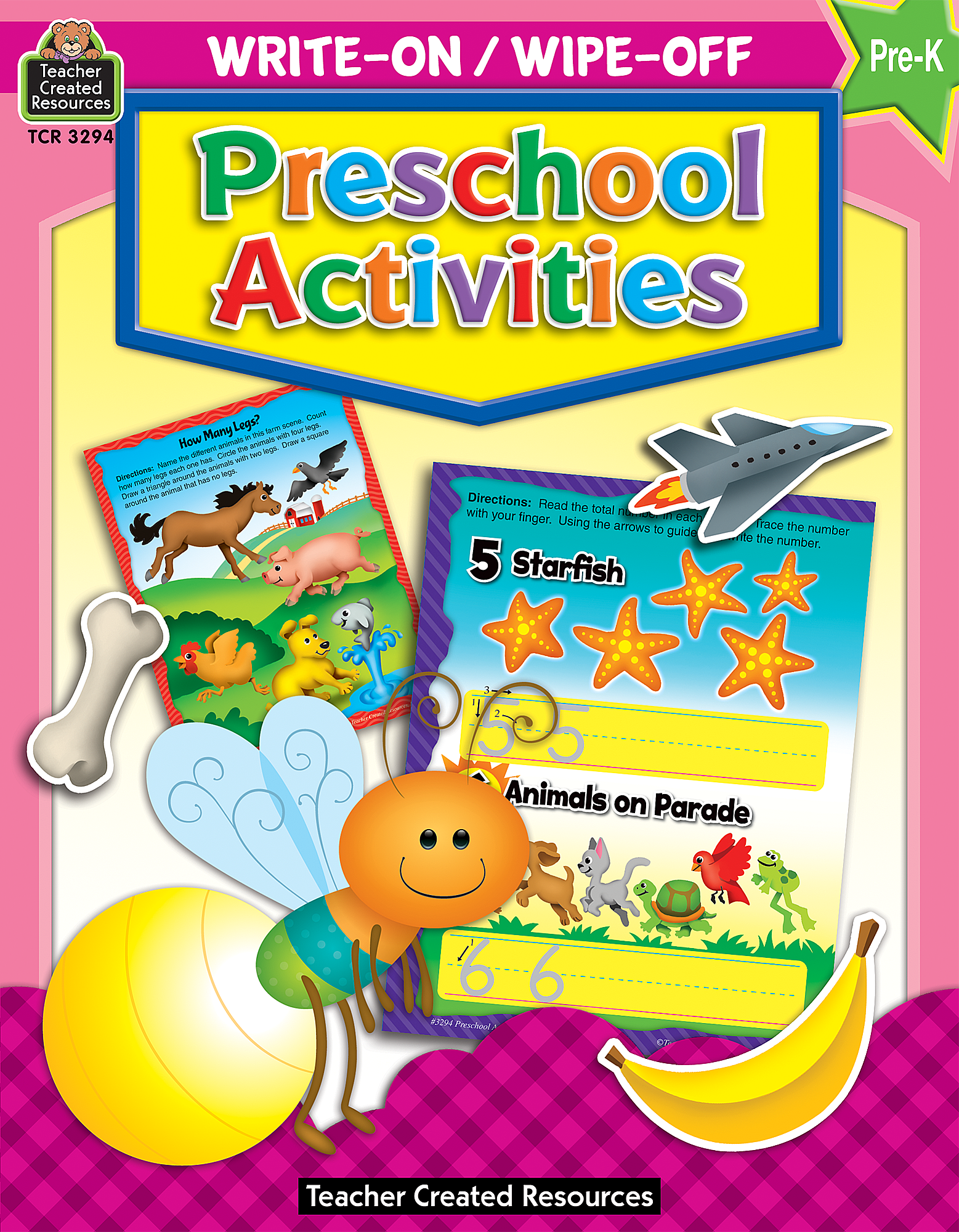 Write-On/Wipe-Off: Preschool Activities