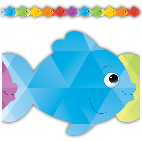 Colorful Fish Die-Cut Border Trim