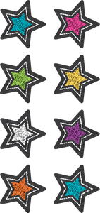 Chalkboard Brights Stars Mini Stickers