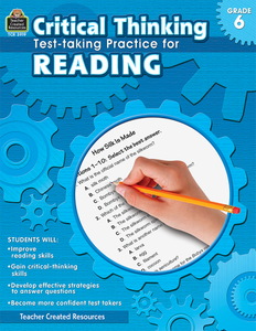 Critical Thinking: Test-taking Practice for Reading (Gr. 6)