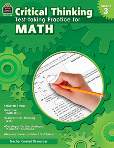 Critical Thinking: Test-taking Practice for Math (Gr. 3)