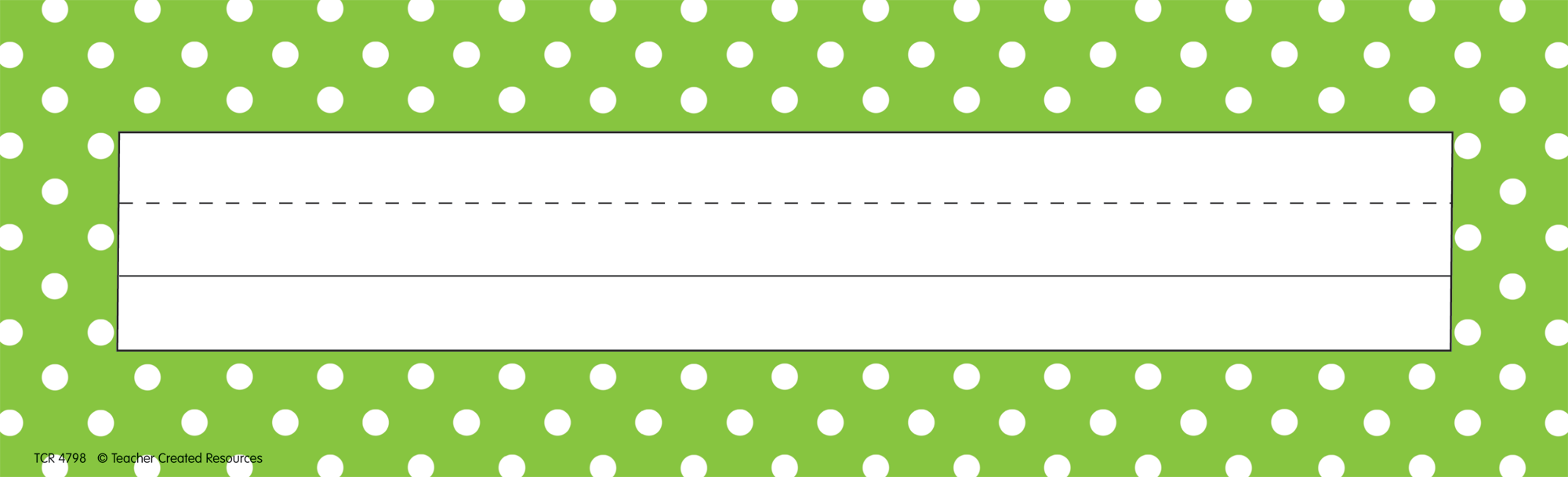 Lime Polka Dots Flat Name Plates