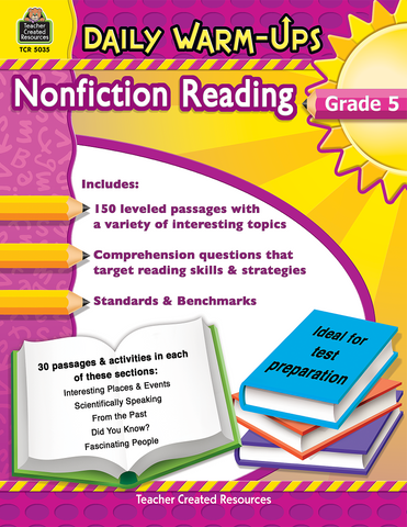Daily Warm-Ups: Nonfiction Reading (Gr. 5)