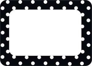 Black Polka Dots 2 Name Tags/Labels