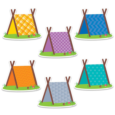"PUP TENTS (WOODLAND FRIENDS) 6"" DESIGNER CUT-OUTS"