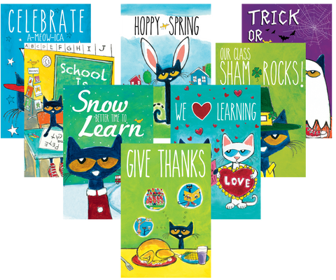 Pete the Cat¬ Holiday and Seasonal Poster Set