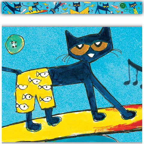 Pete the Cat¬ Straight Border Trim