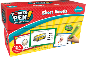 Power Pen¬ Learning Cards: Short Vowels