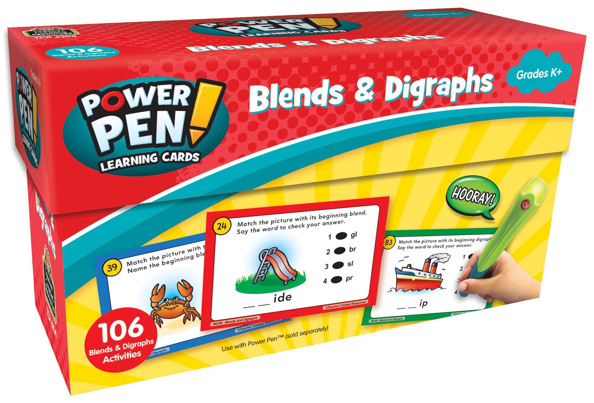 Power Pen¬ Learning Cards: Blends & Digraphs