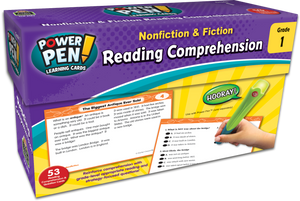 Power Pen¬ Learning Cards: Nonfiction & Fiction Reading Comprehension (Gr. 1)