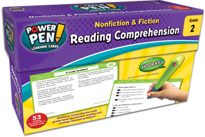 Power Pen¬ Learning Cards: Nonfiction & Fiction Reading Comprehension (Gr. 2)
