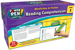 Power Pen¬ Learning Cards: Nonfiction & Fiction Reading Comprehension (Gr. 3)