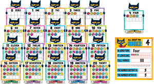 Pete the Cat¬ Numbers 0_20 Bulletin Board