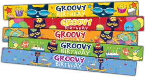 Pete the Cat¬ Groovy Birthday Slap Bracelets