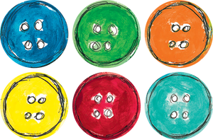 Spot On¬ Pete the Cat¬ Groovy Buttons Carpet Markers - 4""