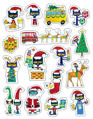 Pete the Cat¨ Christmas Stickers