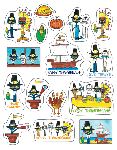 Pete the Cat¨ Thanksgiving Stickers