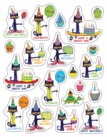 Pete the Cat® Happy Birthday Stickers