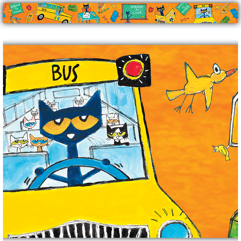 Pete the Cat¬ School is Cool Straight Border Trim