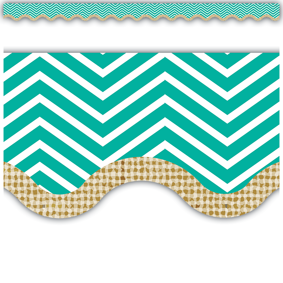 Chevron Burlap Scalloped Border Trim