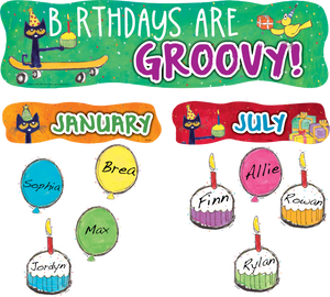 Pete the Cat¬ Birthdays Are Groovy Mini Bulletin Board