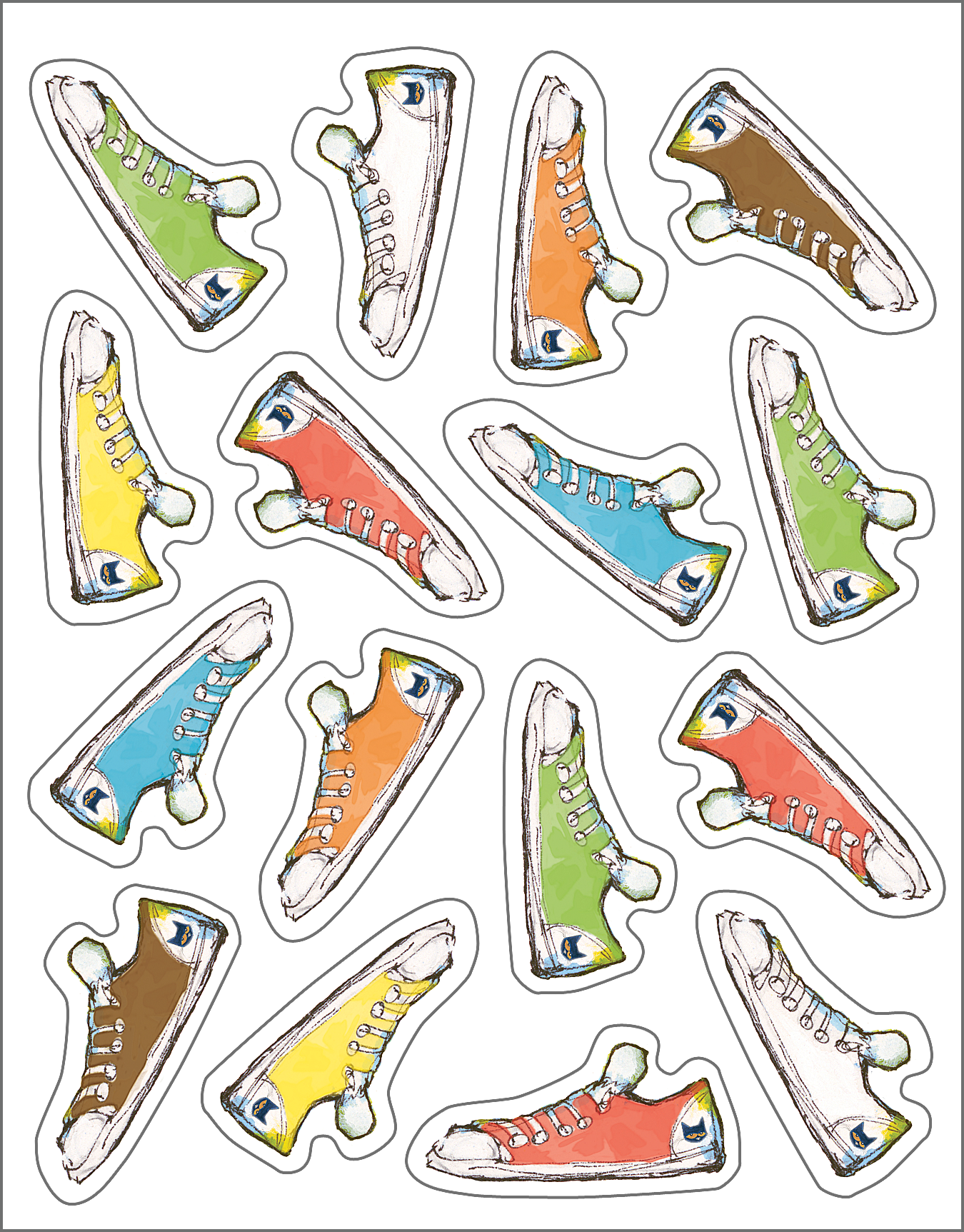 Pete the Cat¬ Groovy Shoes Stickers