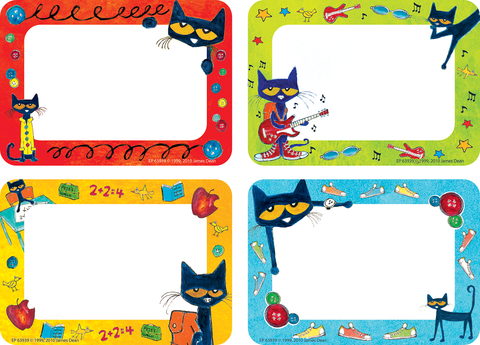 Pete the Cat¬ Name Tags/Labels - Multi-Pack