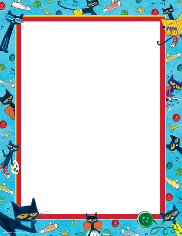 Pete the Cat¬ Computer Paper