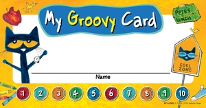 Pete the Cat¬ My Groovy Punch Cards