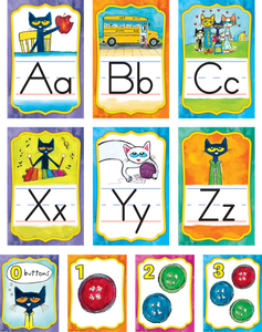 Pete the Cat¬ Alphabet Bulletin Board