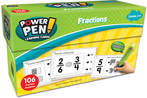 Power Pen¬ Learning Cards: Fractions