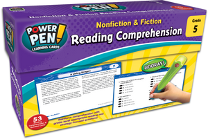Power Pen¬ Learning Cards: Nonfiction & Fiction Reading Comprehension (Gr. 5)