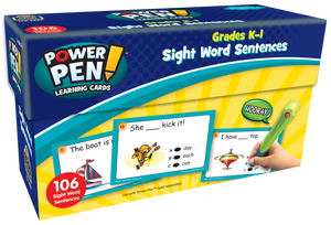 Power Pen¬ Learning Cards: Sight Word Sentences