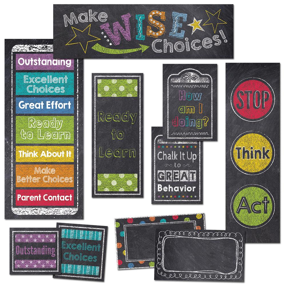 BEHAVIOR CLIP CHART MINI-BULLETIN BOARD (CHALK)