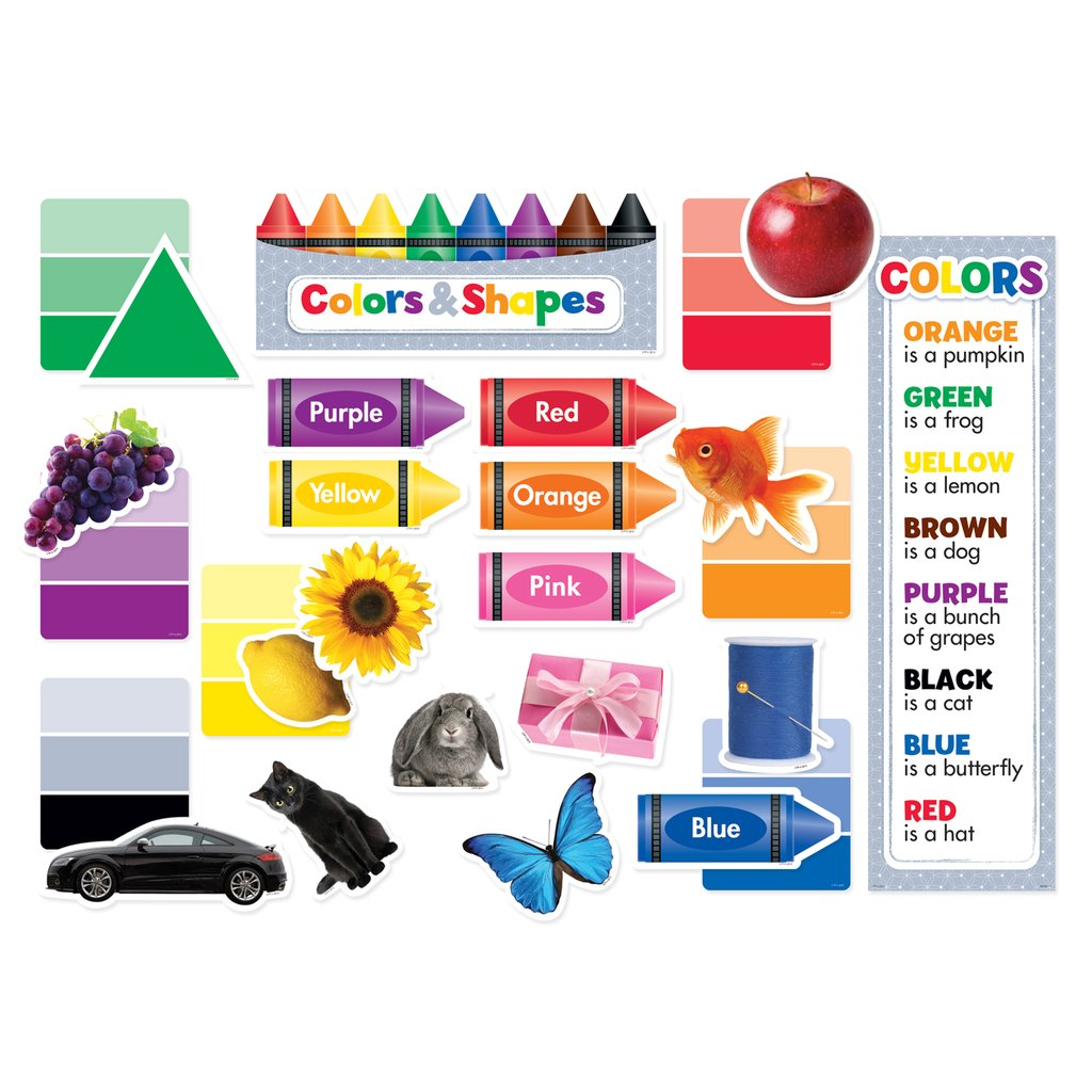 COLORS & SHAPES MINI BULLETIN BOARDS