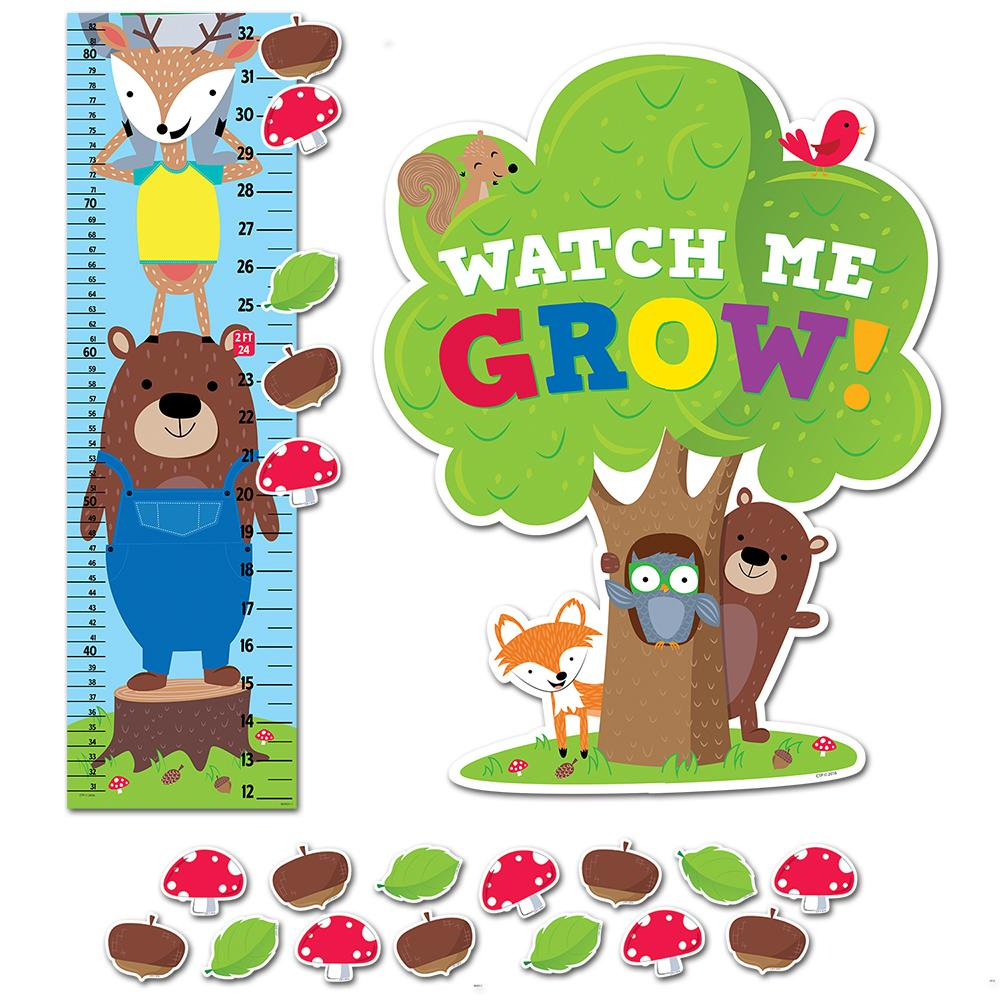 WOODLAND FRIENDS GROWTH CHART MINI BULLETIN BOARD