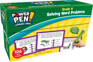 Power Pen¬ Learning Cards: Solving Word Problems (Gr. 4)