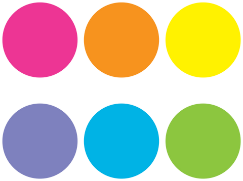 Spot On¬ Bright Circles Carpet Markers - 7""