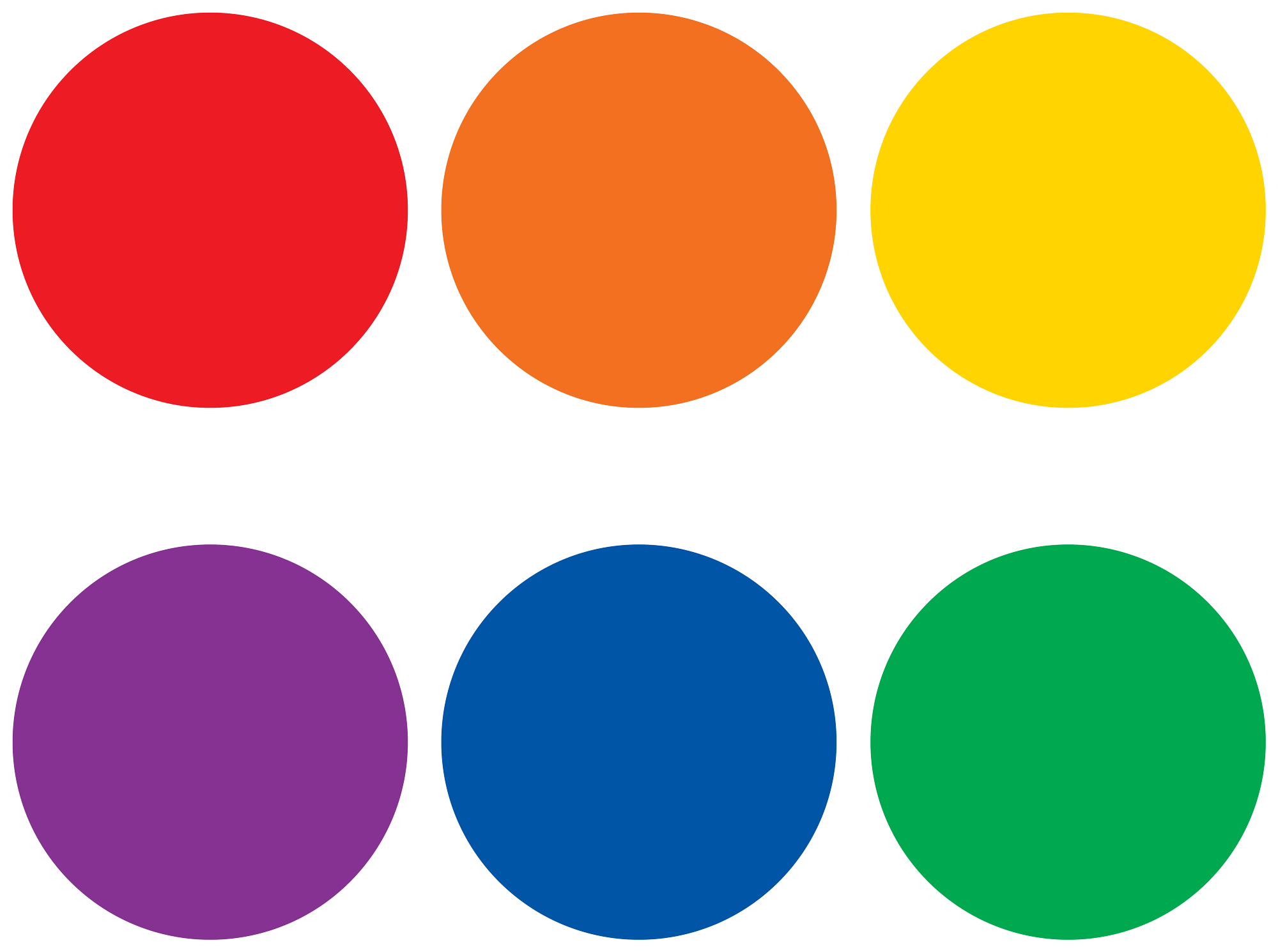 Spot On¬ Colorful Circles Carpet Markers - 7""