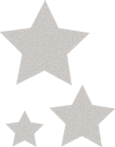 Silver Glitz Stars Accents - Assorted Sizes