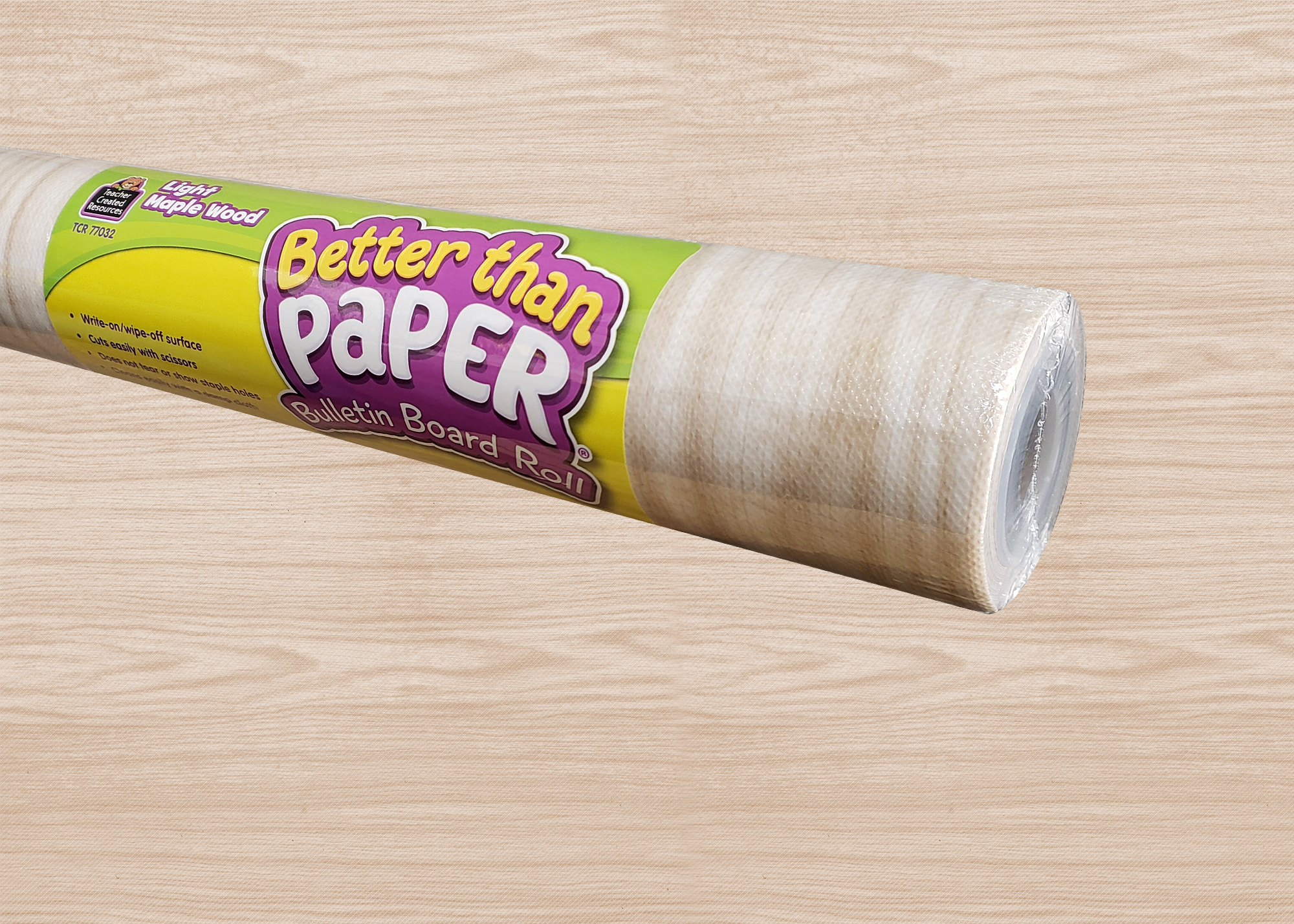 Light Maple Wood Better Than Paper® Bulletin Board Roll