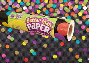 Colorful Confetti on Black Better Than Paper® Bulletin Board Roll