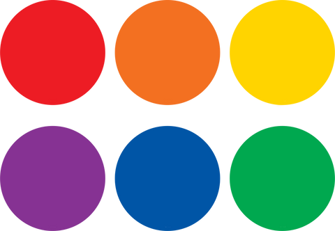 Spot On¬ Colorful Circles Carpet Markers - 4""