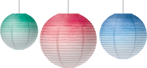 Watercolor Hanging Paper Lanterns