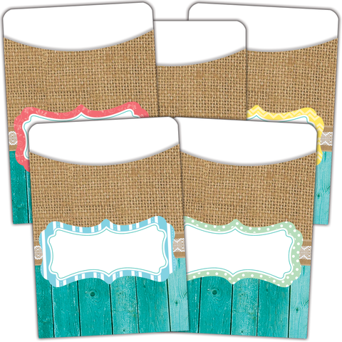 Shabby Chic Library Pockets - Multi-Pack