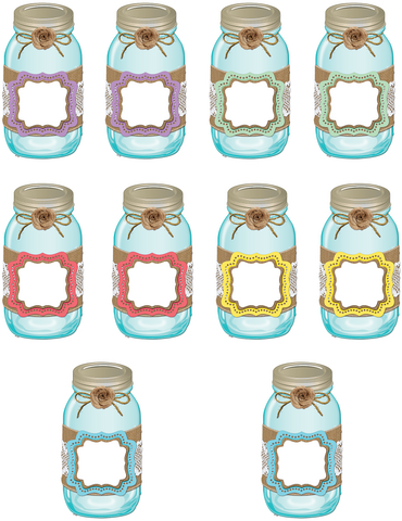 Shabby Chic Mason Jars Accents